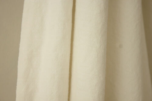Antique French sheet white linen and cotton 83X112 inch cutting fabric projects