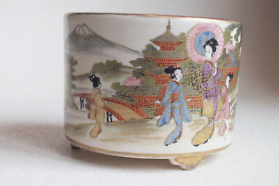 Vintage Japanese Satsuma Pot - Nicely decorated