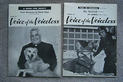 VOICE OF THE VOICELESS set of 2 October 1963 & February 1964 Calore Publications