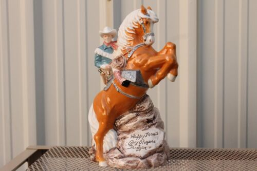 ~~~ VINTAGE HAPPY TRAILS ROY ROGERS TRIGGER 1995 MC ME PRODUCTS COOKIE JAR ~~~