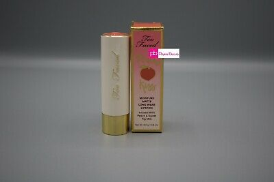Too Faced Peach Kiss Lipstick Make Me Blush -NEW IN BOX Long Lasting Sheer Blush