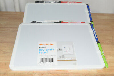 Set Of 2-magnetic 11 X 14 Small Dry Erase Board W4 Markers Each