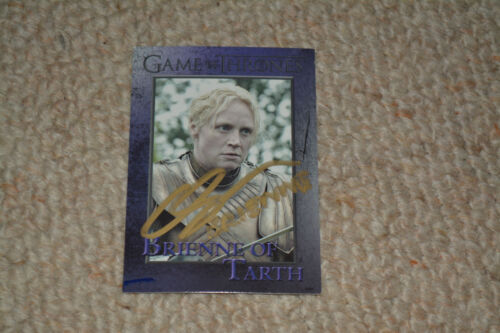 GWENDOLINE CHRISTIE  signed Autogramm In Person GAME OF THRONES TRADING CARD