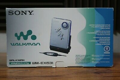 Sony WM-EX631 Walkman Cassette Player in box with accessories