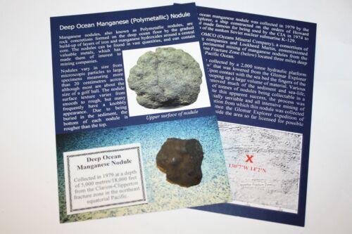 Deep Ocean Manganese Polymetallic Nodule Glomar Explorer 1979 3 miles down #1
