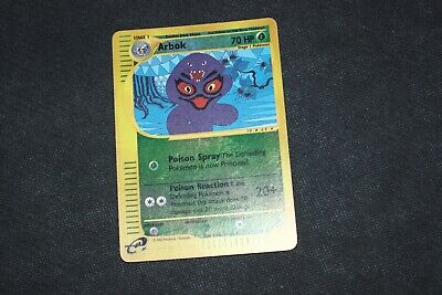 Pokemon Card E-Reader LP Reverse Holo Rare Arbok 3/165 Expedition