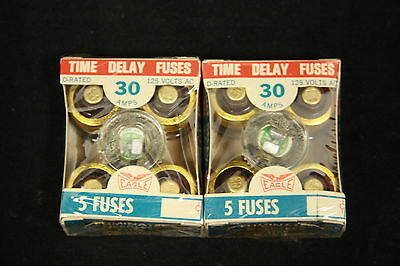 Eagle Ok Time Delay Plug Fuses 670 30 Amps 125v D-rated 30a Lot Of 2 Boxes Of 5