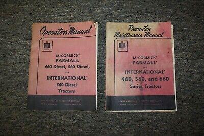 2 Original Tractor Manuals Ih Mccormick Farmall International 460 560 660