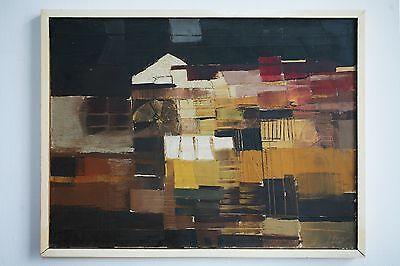LJUBA STOLFA original Gemälde Painting 84 x 64 Abstrakt 60er Jahre