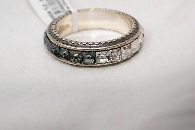 New Authentic Brighton Spectrum Silver & Crystal Ring Size 9