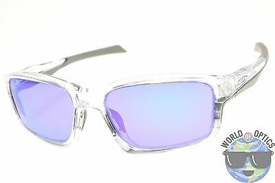 Oakley Chainlink Sunglasses OO9247-06 Polished Clear w/ Violet Iridium Lens