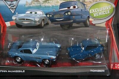 "DISNEY PIXAR CARS ""2 PACK FINN McMISSILE & TOMBER"" IMPERFECT PACKAGE, SHIP WW"