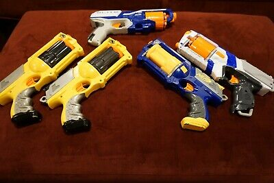 NERF Gun Collection of Pistols Including Old and New Guns!!!!