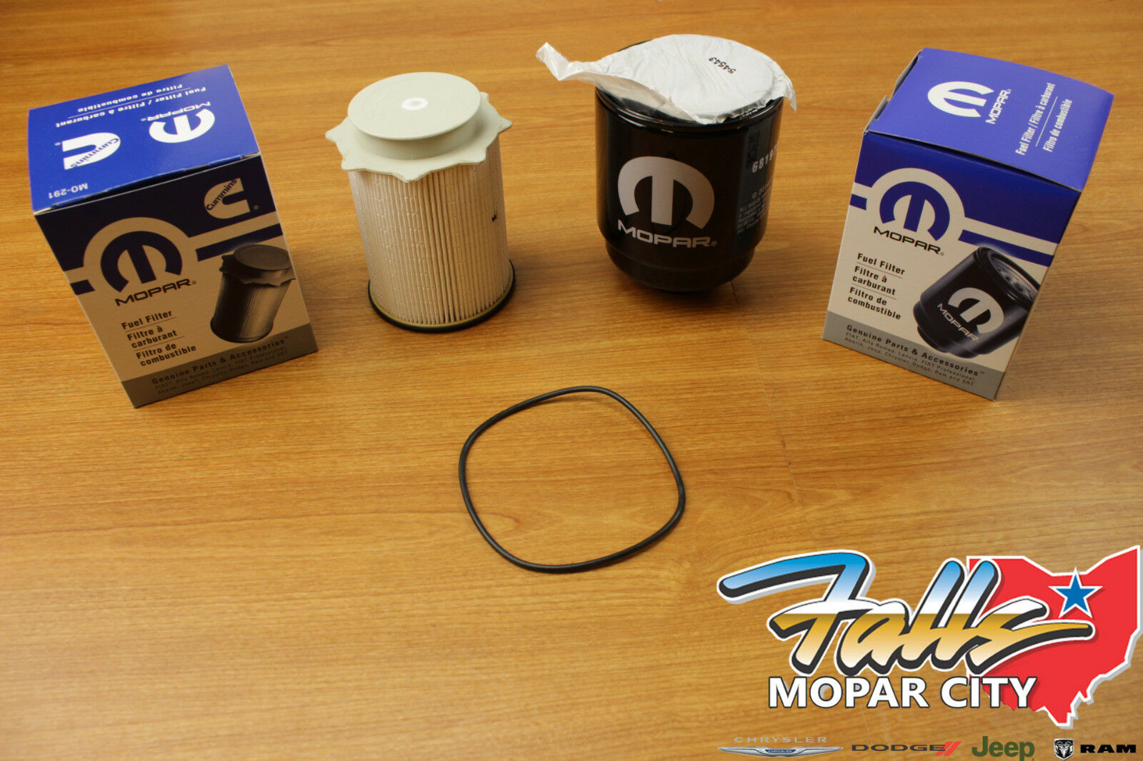 2013 2018 Dodge Ram 67 Liter Diesel Fuel Filter Water Separator Set Filters Diesle 94 02 Mopar Oem