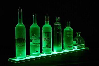 Used 4ft Wall Mount Bar Shelf W Led Lighting - Bottle Shelves Liquor Shelves