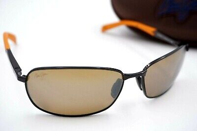 NEW Maui Jim Sunglasses Rectangular LONG BEACH Expresso w HCL Bronze (Maui Jim Beach Sunglasses)