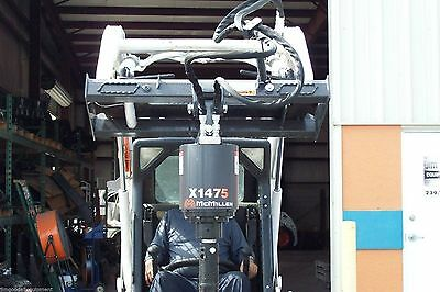 Skid Steer Auger Mcmillen X1475 All Gear Drivefor Smaller Loaders Hex Drive