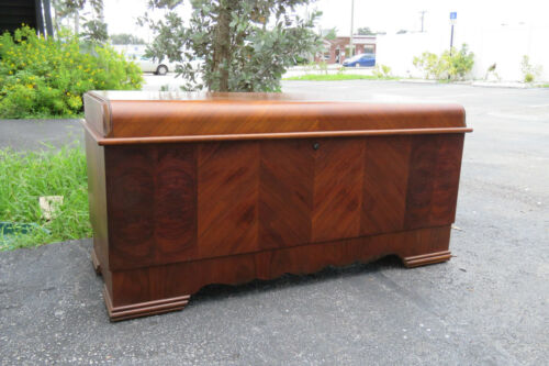 Art Deco Water Fall Cedar Hope Chest Trunk Bench by Lane Furniture 1353