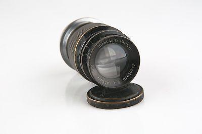 Vintage Ernst Leitz GmbH Wetzlar Camera Lens Elmar f=9cm 1:4 for Leica