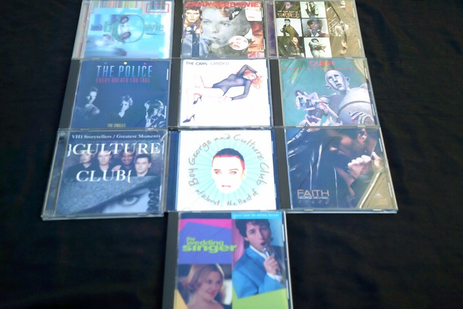 LOT Of 10 Rock 80s CD DAVID BOWIE Prince QUEEN Police CULTURE CLUB Cars BEST OF - $19.99