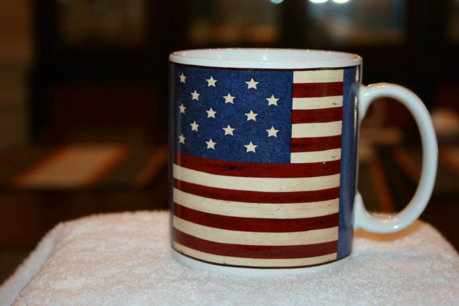 Warren Kimble Brandon House Sakura Spirit Of The Flag Mug - $3.00