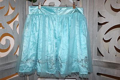 HOT TOPIC Disney Frozen Elsa tulle skirt tutu Halloween Ice blue Women's L (Blue Tutu Halloween)