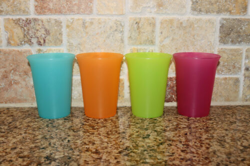 Set of 4 Tupperware Bell Tumblers 109 Retired RARE FRUIT Colors 7 oz