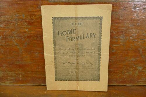 Antique 1900 The Home Formulary Hoburg Advertising Frank G Thomas Mankato, MN