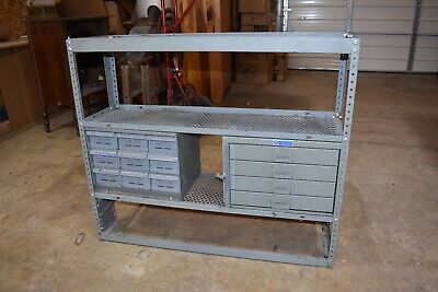 Vintage Industrial Steam Punk Metal Storage Rack Cabinet For Garage Or Van