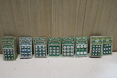 Vintage 1930's buttons silver plated brass frames irish linen covered + assorted