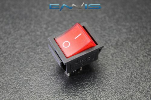 ROCKER SWITCH DPST ON OFF TOGGLE 15 AMP 250V 20 AMP 125V 4 PIN EC-2604