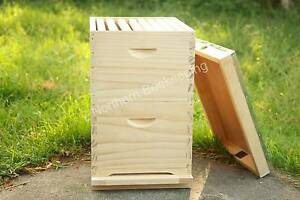 ASSEMBLED BEE HIVE WITH FRAMES - NZ PINE BEEHIVE WITH FOUNDATION Meadow Heights Hume Area Preview