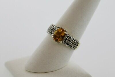 LeVian 1.50CTW Citrine and Diamonds Ring in 14k Yellow Gold Ctw Citrine Ring