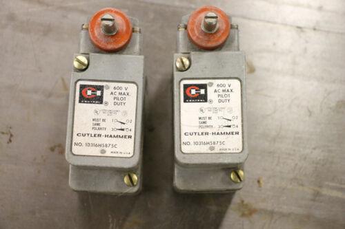 Qty. 2 Cutler Hammer 10316H5875C Limit Switch