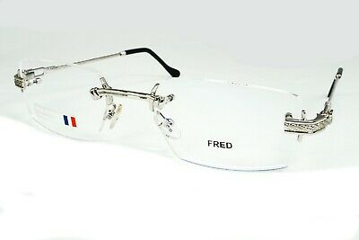 Fred Lunettes Bermude Silver Rope Frames Men's Eyeglasses Rx Rimless Authentic