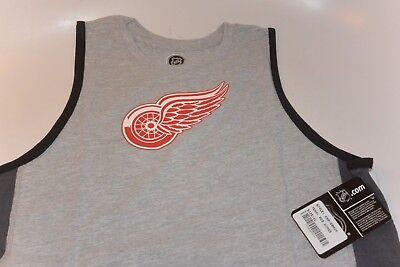 NHL DETROIT RED WINGS Fan Gear Gray Tank Top T-Shirt Youth XL 18