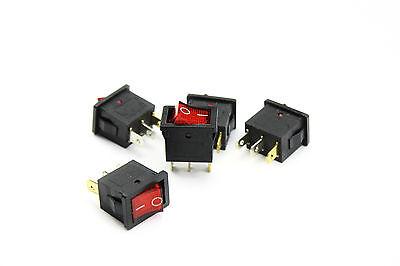 Mini-Wippenschalter 3-polig AC 250V/6,5A, 2 Stellungen EIN / AUS Schalter Taste