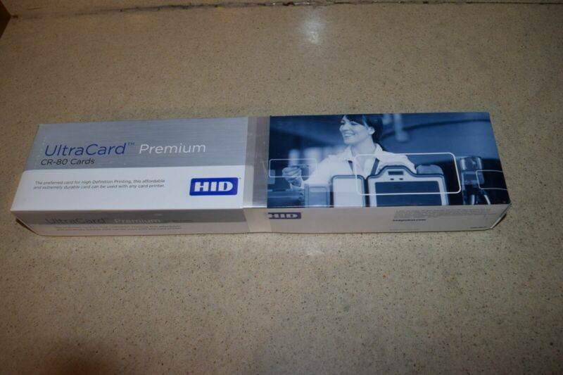 HID ULTRACARD PREMIUM CR80 NOCO CARDS- 500 COUNT-   NEW