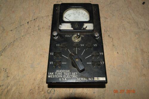 rare vintage western electric J64001AK 1AK tube test set 0-25 d.c. volts low S/N