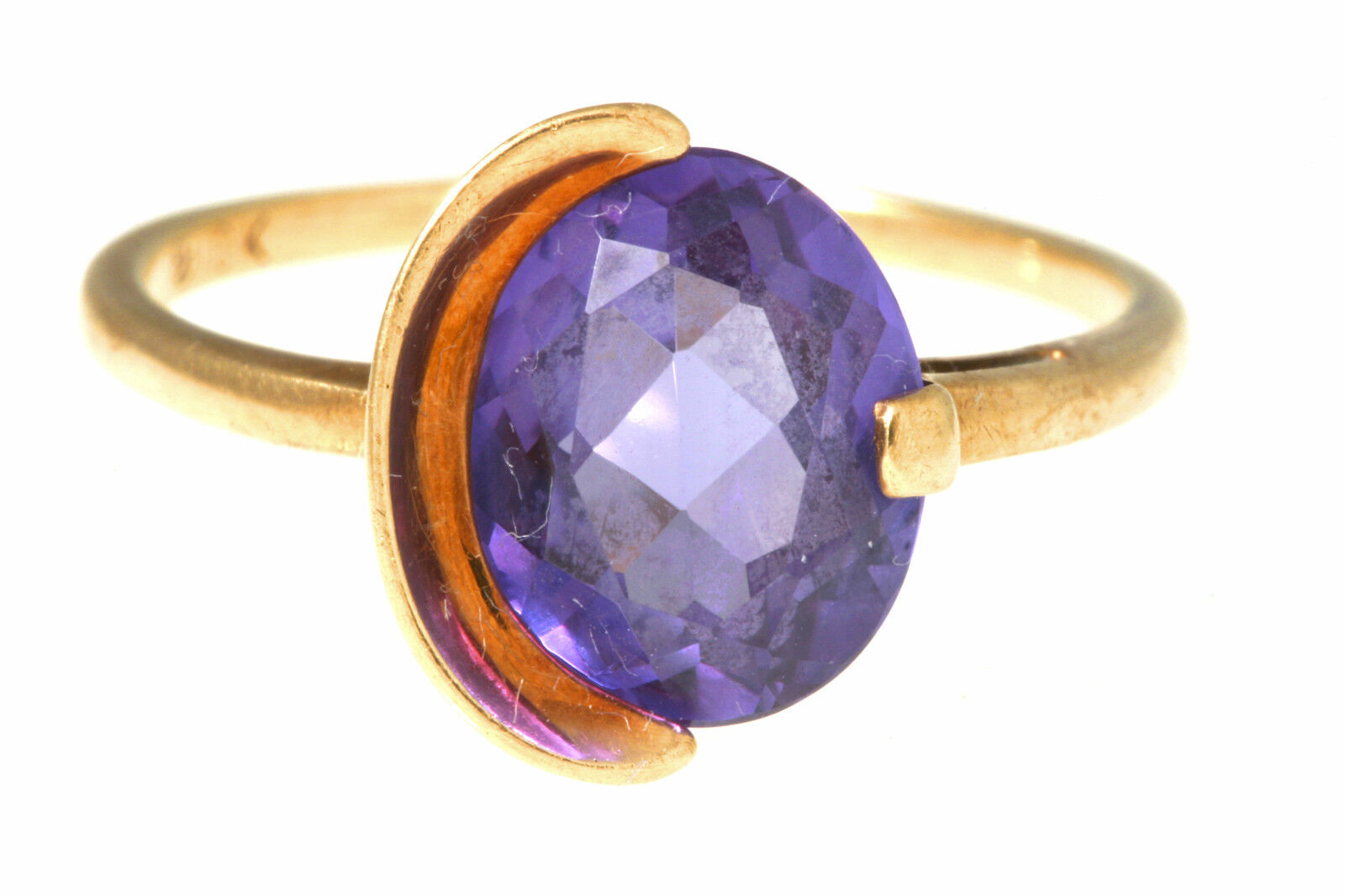 mystic topaz 10k yellow gold solitaire ring size 7 25 ebay