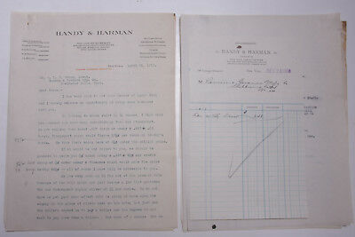 1918 Lamson Goodnow Ww1 Handy Harman King Hardware Atlanta Ga Ephemera L783b