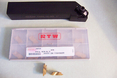 New - Tnsl16-3d 1 Top Notch Grooving Threading Tool Holder W 10 New Inserts