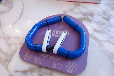 CINELLI SPINACI BAR EXTENSIONS AERO BULLHORN 90S VINTAGE BLUE YELLOW NOS