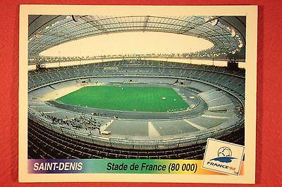 PANINI WC WM FRANCE 98 1998 – N. 4 SAINT-DENIS MINT CONDITION WITH BLACK BACK