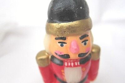 Vintage Nutcracker Christmas Candle Colorful No Marks Unused 5-3/4 inch ZD1 Mark 4 Inch Candle