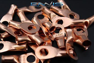 6 Gauge Copper 516 Ring 10 Pk Crimp Terminal Connector Awg Ga Car Eye Cur6516