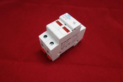 1PC 2 Poles Din Rail Mounting RT18-32 Fuse Holder for 10x38MM Fuse link