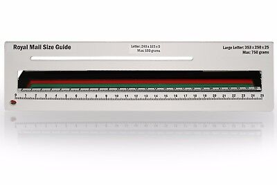 Royal Mail PPI Letter Size Guide Ruler Post Office Postal Price Postage in White