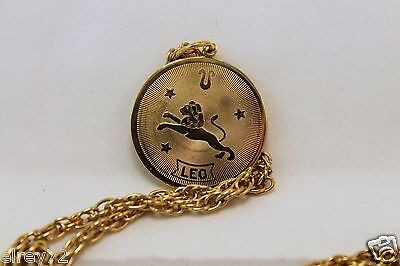 Nordstrom Leo Horoscope Sign Zodiac Pendant Coin 1 1 4  Dia With Chain