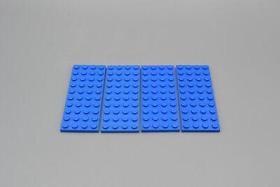 LEGO 4 X BASISPLATTE 4X10 BLAU BLUE BASIC PLATE 3030 303023